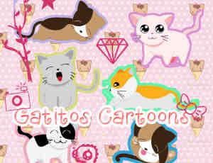 可爱的卡通猫咪照片装扮美图秀秀素材包下载