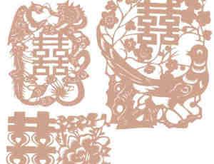 中国传统喜庆剪纸图案Photoshop笔刷下载