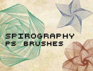 变幻曲线之几何图形Photoshop笔刷素材
