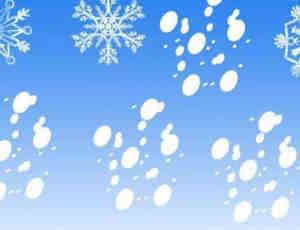 圣诞节雪花图案Photoshop笔刷素材