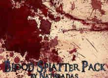 血液滴溅、油漆涂抹痕迹Photoshop笔刷素材下载