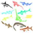 海洋鲨鱼Photoshop笔刷素材