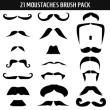 21种夸张的卡通胡子装扮素材PS笔刷下载