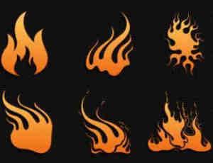 矢量卡通火焰纹饰图案Photoshop笔刷