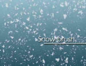 真实的雪花、雪片Photoshop下雪笔刷