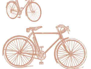 手绘自行车Photoshop笔刷