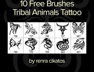 漂亮的蝴蝶、马、龙、猫、牛、狐狸等剪纸艺术式花纹图案