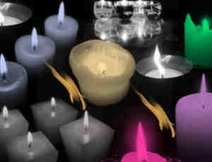 蜡烛、烛光、烛火Photoshop笔刷下载