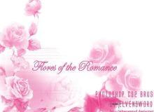玫瑰花图形Photoshop笔刷下载