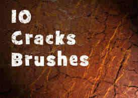 10种纹理干裂、皲裂、破裂、干旱效果Photoshop笔刷