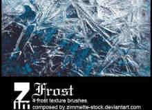 霜冻、结冰、冰晶、结晶效果Photoshop笔刷