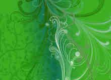 漂亮的植物花纹照片美图背景边框饰品PS笔刷 #.73