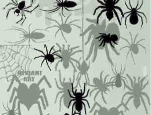 卡通蜘蛛photoshop自定义形状素材 .csh 下载
