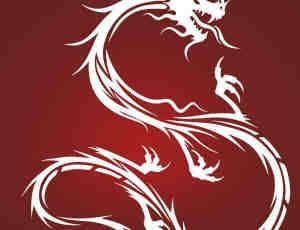 威武的中国龙纹身、纹饰图案PS笔刷素材