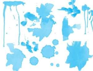 油漆、水墨、水粉痕迹Photoshop笔刷下载
