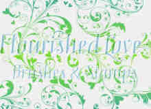 漂亮的蕨类植物艺术花纹图案Photoshop笔刷素材