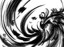 漩涡涂鸦水墨刷子痕迹Photoshop笔刷