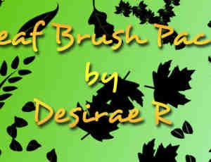 枫叶、落叶矢量叶子图形Photoshop笔刷素材