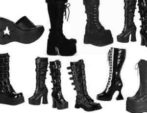 靴子、厚底鞋、长筒靴、女士鞋子Photoshop笔刷