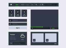 网页UI工具包PSD素材下载 #.3