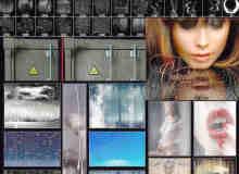 超大雨滴、水滴、水打在玻璃上效果Photoshop笔刷素材