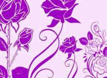 富力玫瑰花花纹图案Photoshop笔刷素材