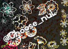 漂亮的植物花朵特色花纹PS笔刷