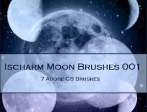 星空月球、月亮PS笔刷下载