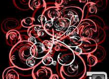 漩涡涂鸦花纹艺术Photoshop笔刷素材