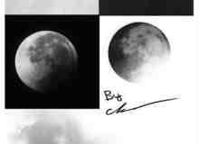 真实的月球、月亮PS笔刷素材