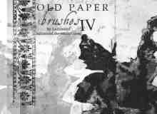 老旧、残破的古典花纹PS笔刷素材