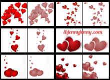 水晶爱心图案情人节装饰Photoshop笔刷