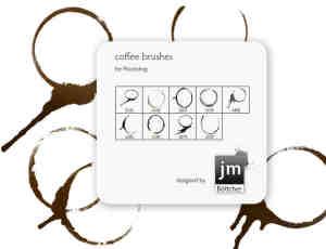 杯子水渍、污渍、咖啡杯痕迹PS笔刷下载