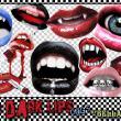 恐怖吸血鬼嘴唇、非主流嘴巴美图秀秀PNG素材下载
