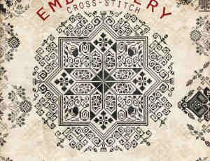 十字绣式地毯古典花纹Photoshop笔刷