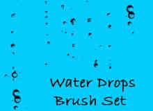 水珠子、露珠、水滴Photoshop笔刷