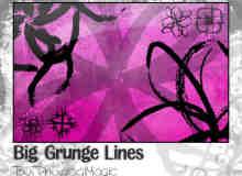 刷子水墨涂鸦式花纹图案Photoshop笔刷