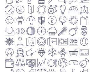漂亮的手绘线框式生活图标素材-AI矢量格式下载