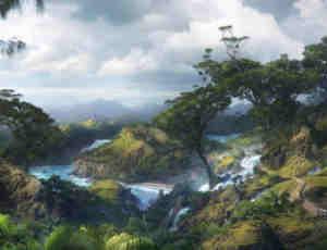 超多丛林场景创建、植被景物树木Photoshop笔刷大合集