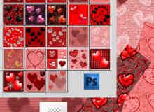 多种爱心图案Photoshop填充图案底纹素材 Patterns 下载