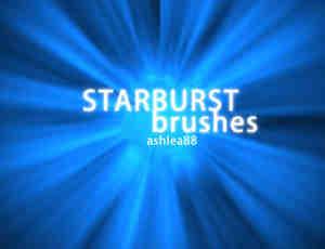 爆炸式光线散射、光球、光斑Photoshop笔刷