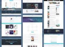 靓丽科技风web主题设计PSD文件素材包下载