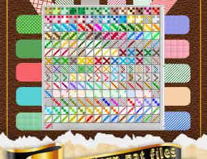 七彩复古像素化Photoshop填充图案底纹素材 Patterns 下载  #.2