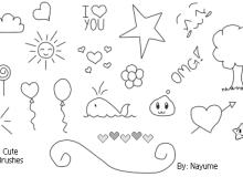 小可爱铅笔童趣涂鸦Photoshop笔刷素材