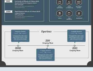 国外复古式简历设计方案PSD素材下载