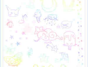 萌哒哒可爱童趣涂鸦Photoshop照片美化笔刷