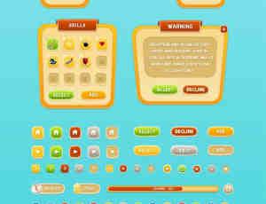 移动游戏GUI素材PSD模版下载
