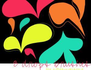 漂亮的花瓣状涂鸦PS笔刷素材