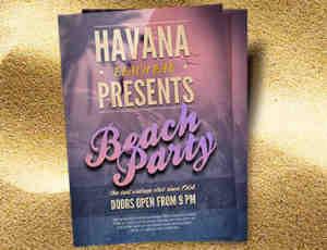 派对宣传单、广告单、海报模版PSD素材下载