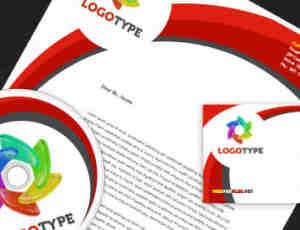 一套企业文化设计VI模版PSD素材下载